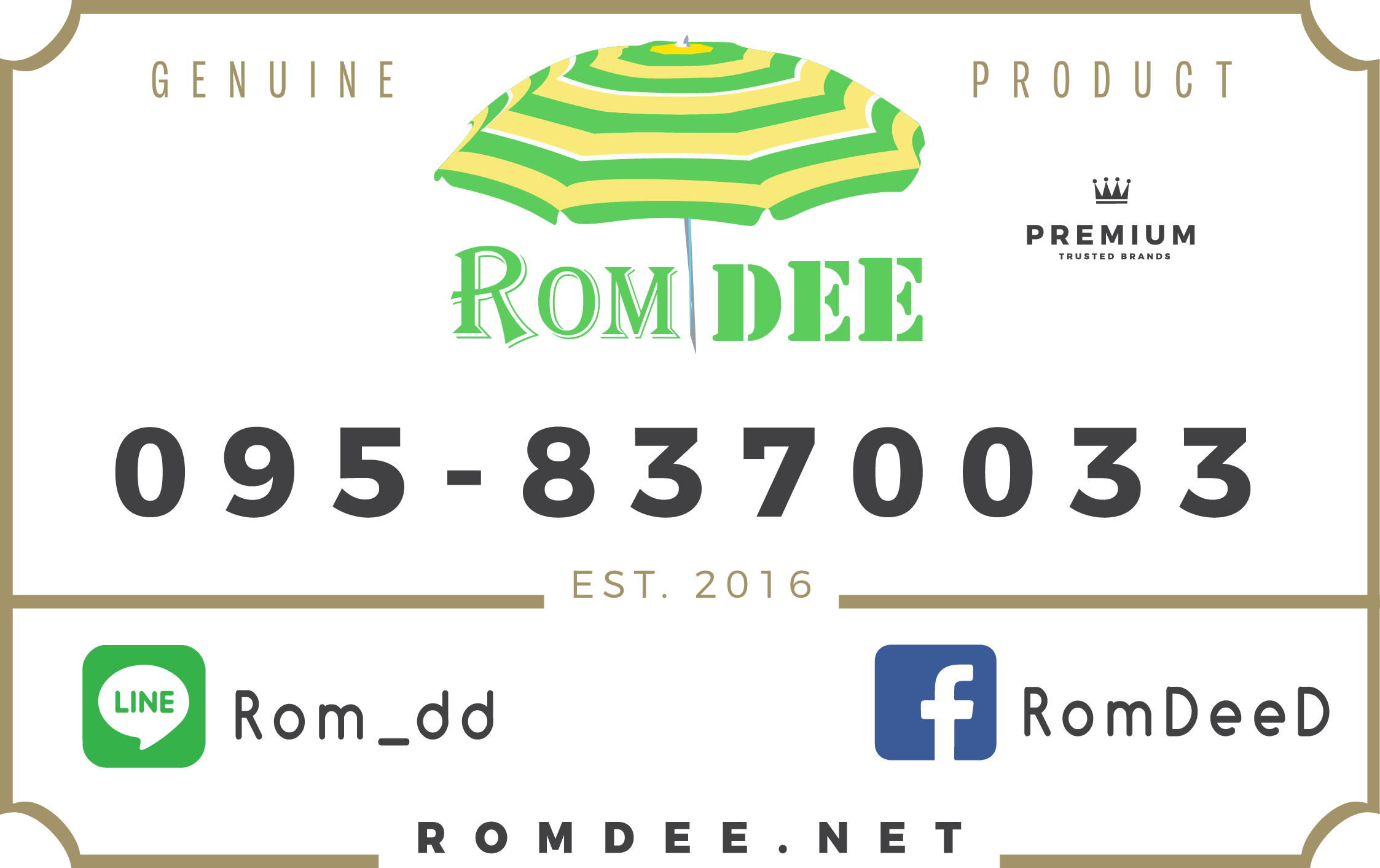 Romdee's Badge - Geniune Product